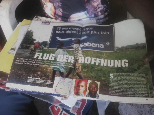 Une d'un journal allemand.